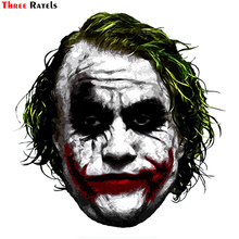 Three Ratels TRL744# 10.4x14.2cm joker why so serious funny car stickers   and decals