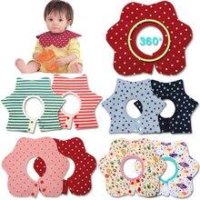 Baby Bibs Round Neck Burp 360 Degree Cloths Slabbers Infantil Bandana For Infant Toddler Kids Girl Boy
