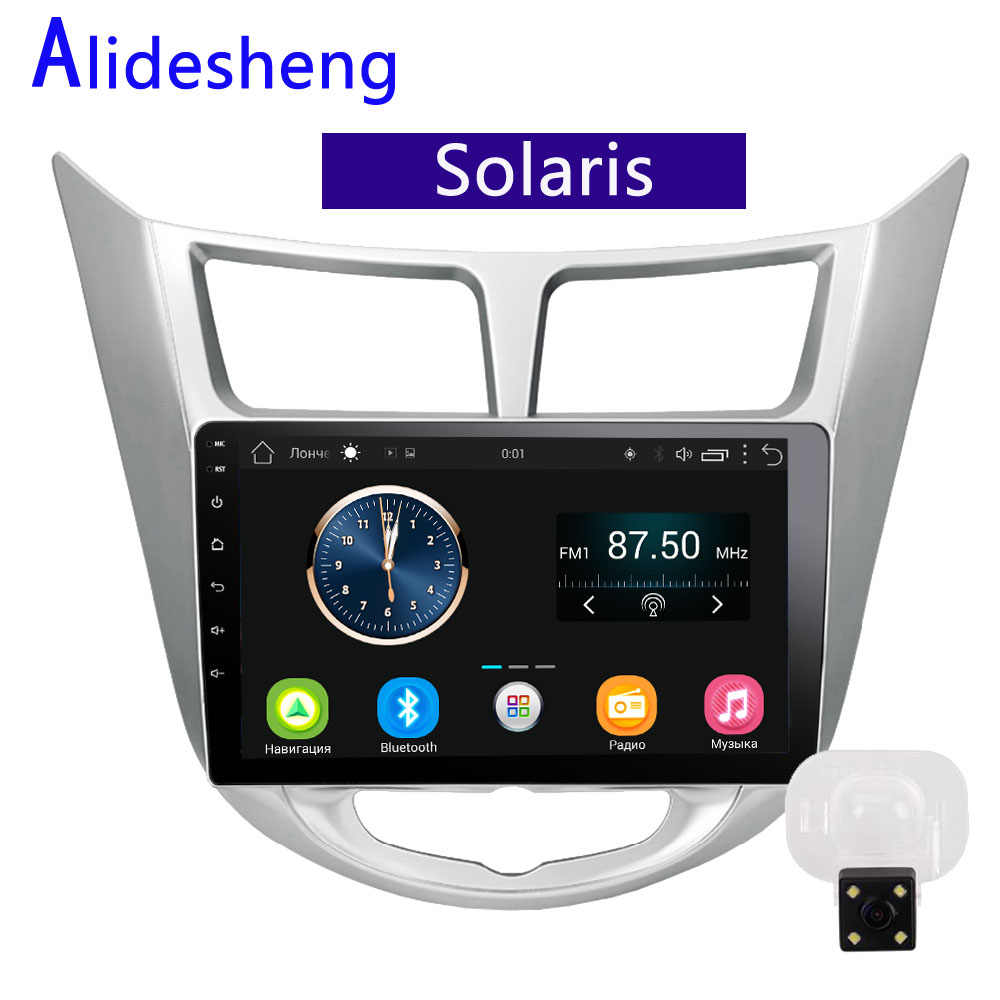 Android 2G Car radio Multimedia player for Hyundai Solaris Verna Accent 2011 2012 2013 2014 2015 2016 1 2 din GPS navigation