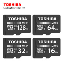 TOSHIBA Micro SD Kart 16 GB/32 GB/64 GB/128 GB Bellek TF Trans Flash Kart mini SD Kart Class10 U1 Microsd Kart Akıllı Telefon/Tablet için(China)