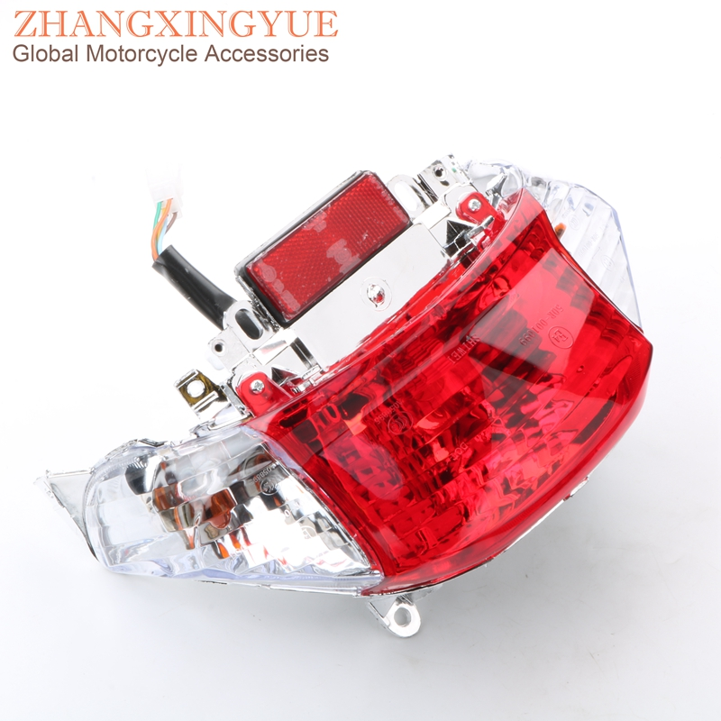 GY6 Chinese Scooter Tail Light Turn Signal Taillight Assembly For Peugeot V-Clic 50cc 4-stroke