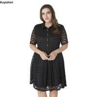 Oversize 2XL 3XL 4XL 5XL 6XL 7XL Lace Dress Plus Size Women Short Sleeve Dresses Large