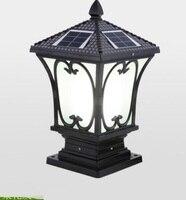 Открытый свет солнечной энергии открытый настенный светильник LED Post бытовой сад Водонепроницаемый свет FG204