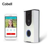 Cobell Wifi Video Doorbell Outdoor Battery Camera PIR Night Vision Wireless Door Intercom TF Card Recording