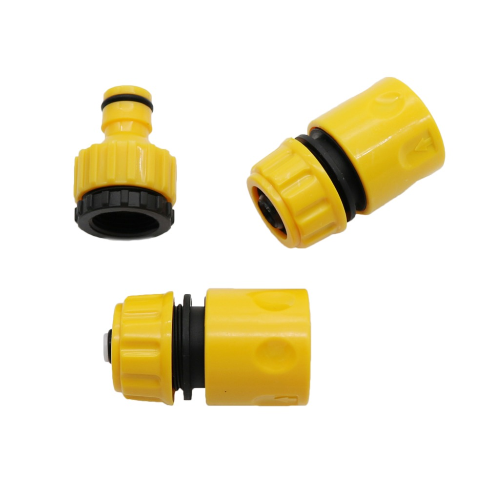 1 Set 3pcs Garden Water Pipe Connectors Kits Waterstop Connector Quick Connector 1/2