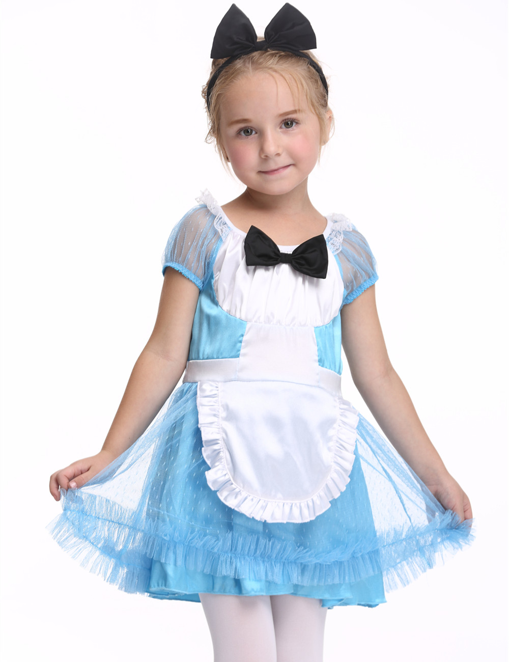 Girls Maid Costume Halloween Costume For Kids Stage & Dance Wear Children Short Sleeve Party Cosplay Skirt