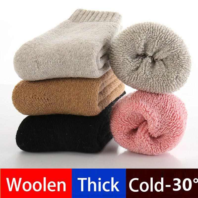 82f03956a8ea6 Baby Boy Socks Real Woolen Thick Children Socks for Girls Winter Soft Warm  Thermal Floor Socks
