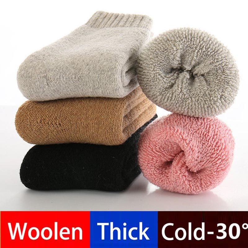 Baby Boy Socks Real Woolen Thick Children Socks For Girls Winter Soft Warm Thermal Floor Socks Kids For Girls Clothes WZ05