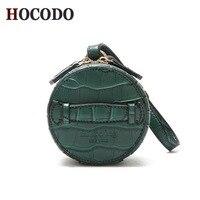 f4dfeeb53f ... Padrão Couro Genuíno Das Mulheres Mensageiro Sacos Bolsas E Designer.  HOCODO Personalized Handbag New Fashion Mini PU Leather Round Bag Crocodile  ...