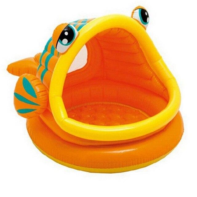 Экспресс бесплатная доставка 124*109*70 см рыбы рот круглый вс детский бассейн надувной бассейн, детская ванночка высокое качество