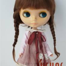 JD018 10-11 дюймов мохер парики Красивая Ана две косы BJD кукла парик Мода Кукла волосы