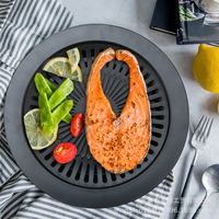 Grill Plate European Outdoor Smokeless Barbecue Grill Pan Gas Household Non Stick Gas Stove Plate BBQ Barbecue Tool