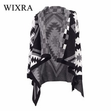 Wixra Warm and Charm Fashion Casual Loose Shawl Batwing Sleeves Lady Knit Sweater Coat Woolen Women Tibet Cardigans Jacket