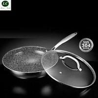 Frying pan Non stick pot Smokeless Pot SS#18/10 Household Frying Pot non Stick Pan Kitchen Pot