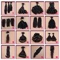 Cabelo Funmi cabelo virgem peruano tia cabelo fumi, Primavera Curly NG beleza cabelo, 32 tipos de modelagem pode escolher