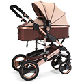 Lightweight aluminum alloy Luxury Shock absorption Sit and Lie Baby Stroller Folding Baby Carriage High Landscape 6 Colors