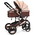 Sentarse y la Mentira de la absorción de Choque ligero de aleación de aluminio de Lujo Del Cochecito de Bebé Plegable Carro de Bebé de Alta Paisaje 6 Colores