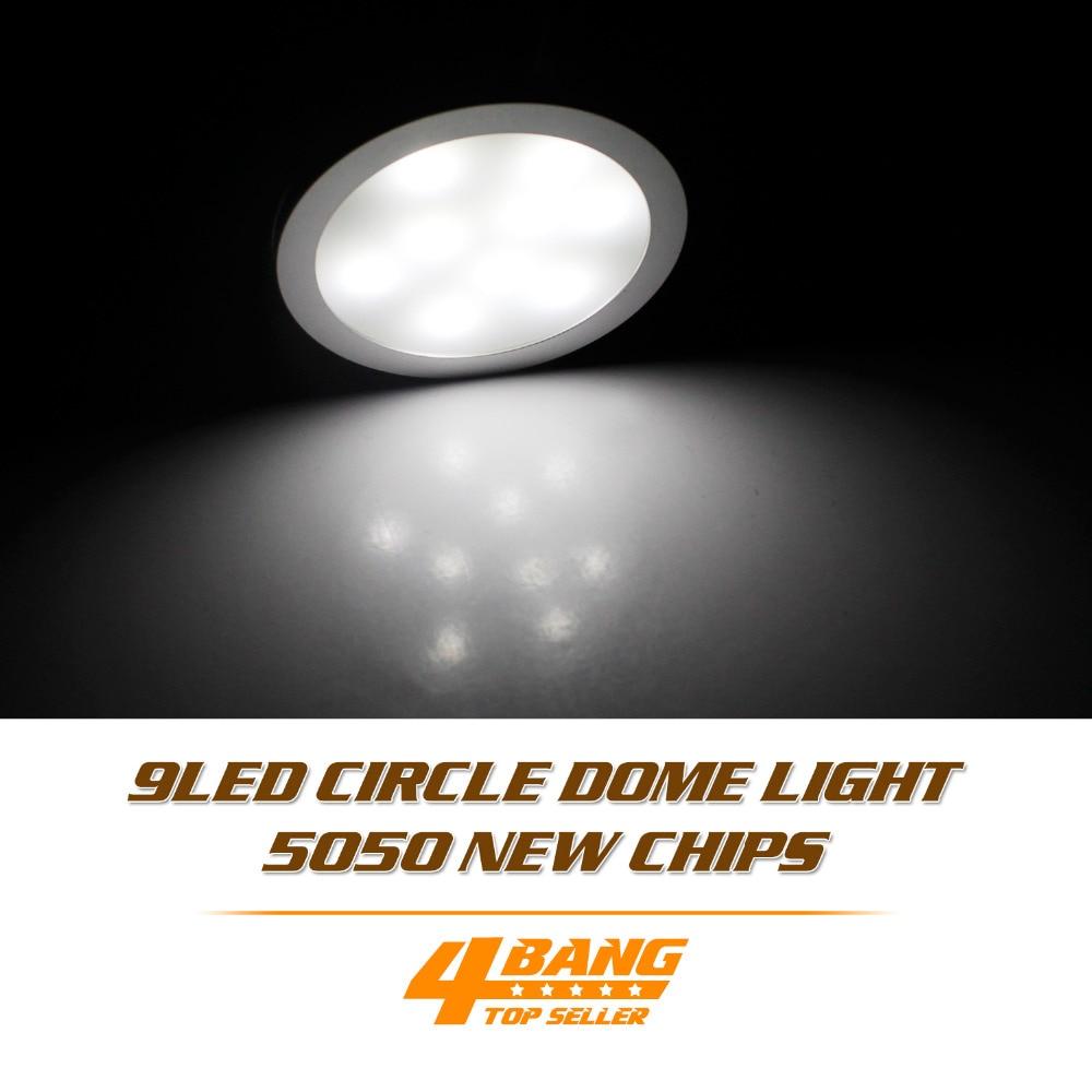 20 pièces DC 12 V Blanc Froid LED Projecteur + Fil De Connexion + Adaptateur Armoire Lumière 9 LED SMD5050 Rondelle Socle Lampe Dôme Lampe Ampoule