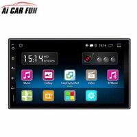 Android 5.1.1 автомобиля Радио 7 дюймов 2din 1024x600 DVD емкостный Сенсорный экран Высокое разрешение GPS навигации Bluetooth USB SD плеер