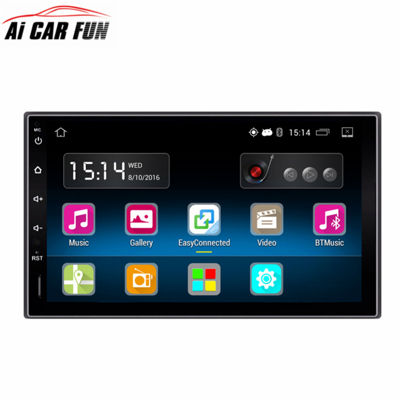 Android 5.1.1 Car Radio 7 inch 2din 1024x600 DVD Capacitive Touch Screen High Definition GPS Navigation Bluetooth USB SD Player