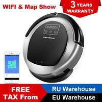 LIECTROUX B6009 Robot Aspirapolvere Wifi, Visualizzazione della Mappa, Mappa di Navigazione, Lampada UV, 1.0L Grande Pattumiera, 3000 Pa, Umido e Secco Pulire