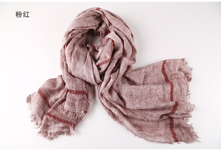 Hyy Scarf Winter Cotton And Linen Scarves Vintage British Classic Warm Shawl