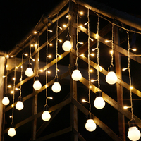 SVELTA 4M 5CM LED Globe Big Ball Retro Garland Curtain Fairy lights LED Christmas Festoon Lights For Holiday Wedding Decoration
