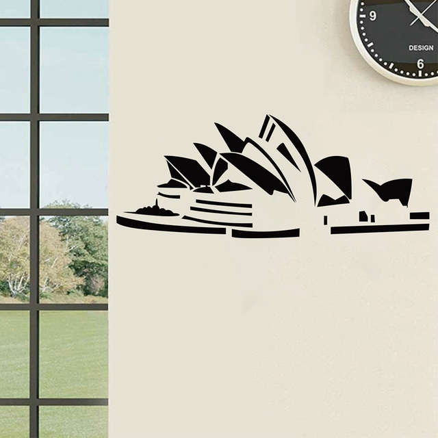 Sydney opera house sticker australia world famous architecture home decoration vinyl art mural wall decals free