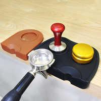 Espresso Coffee Tamper Mat Rubber Irregular Holder Pressed Powder Anti-slip Safe Corner Pad Coffee for Barista WBC champion used
