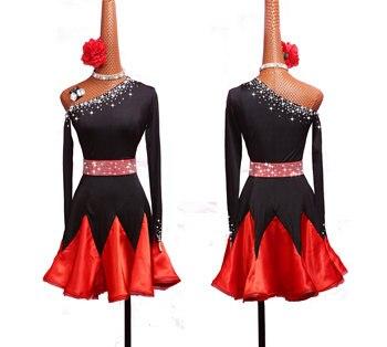 Latin Dance Dress Women Diamond Latin Costumes For Samba Tango Dresses Dancer Clothing