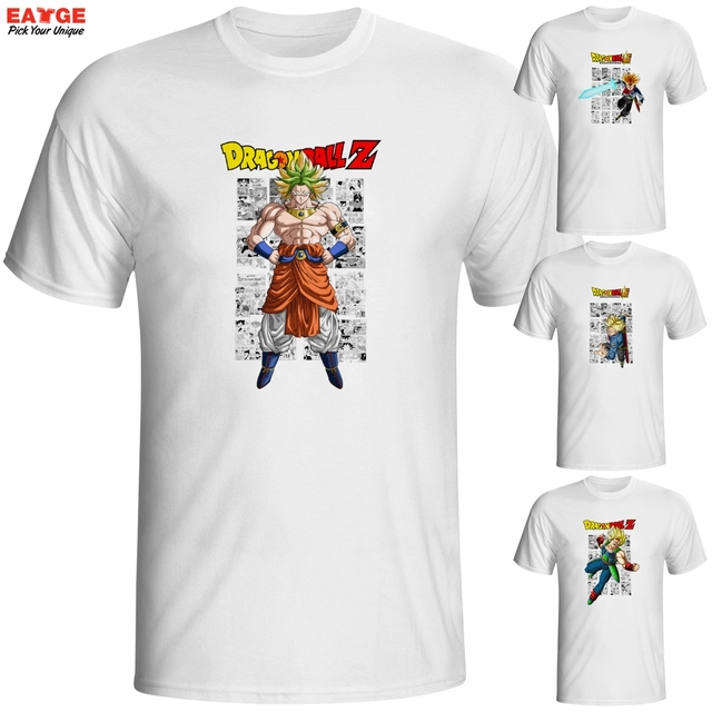 Super Saiyan Blue Son Goku VS Fusion Zamasu T Shirt Dragon Ball Super Anime Design T-shirt Fashion Novelty Style Cool Top Tshirt