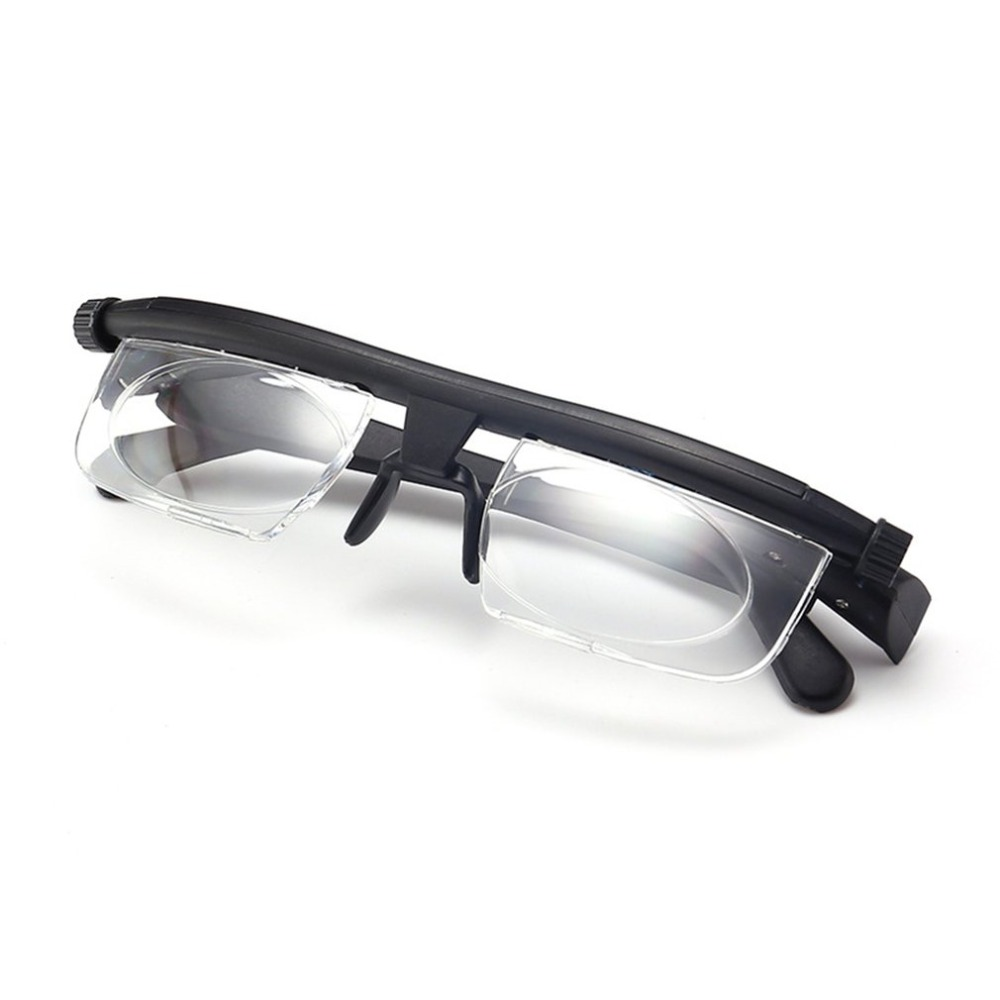 Adjustable Glasses Non-Prescription Lenses For Nearsighted Farsighted Computer Reading Driving Unisex Variable Focus Glasses