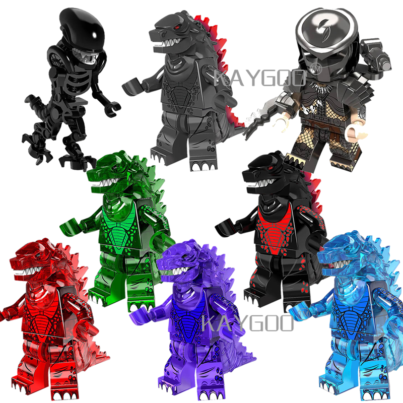Enkele legoings bouwstenen Super Hero Movie Serie Alien vs Predator Giant Monster figuur bricks speelgoed voor kinderen