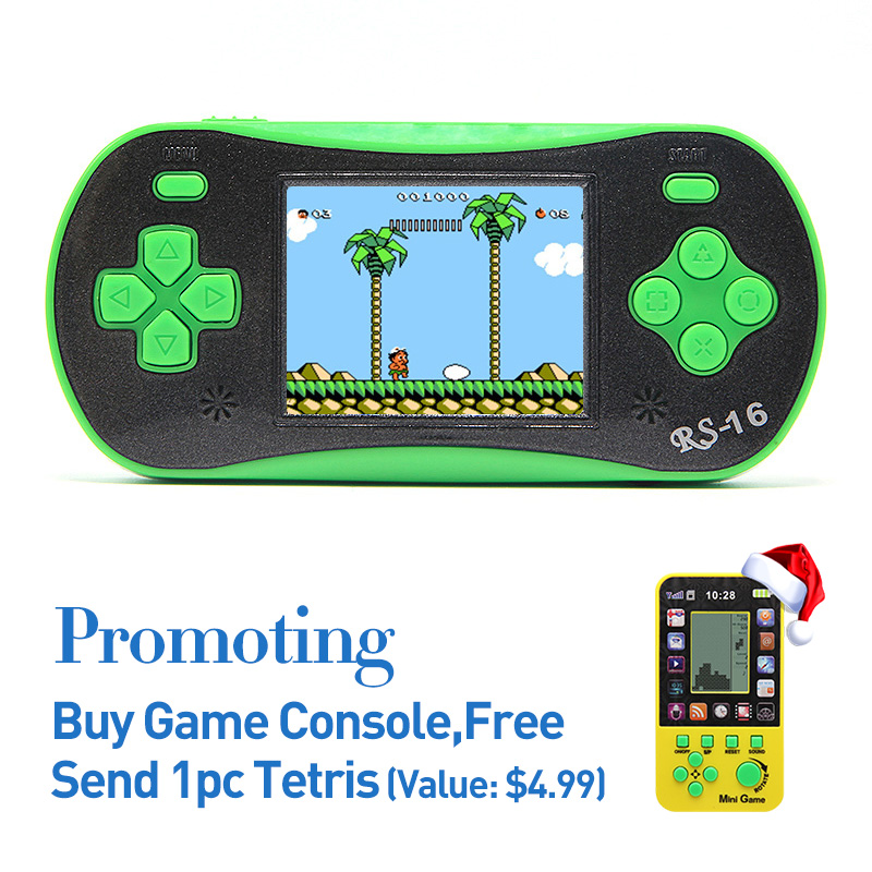 Freeshipping 2 5 Retro Game Handheld Player Built In 260