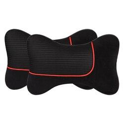 Pluszowa oddychająca poduszka pod szyję do samochodu Auto poduszka pod szyję poduszka zagłówka samochodu  pasuje większość samochodów  bezpłatna wysyłka