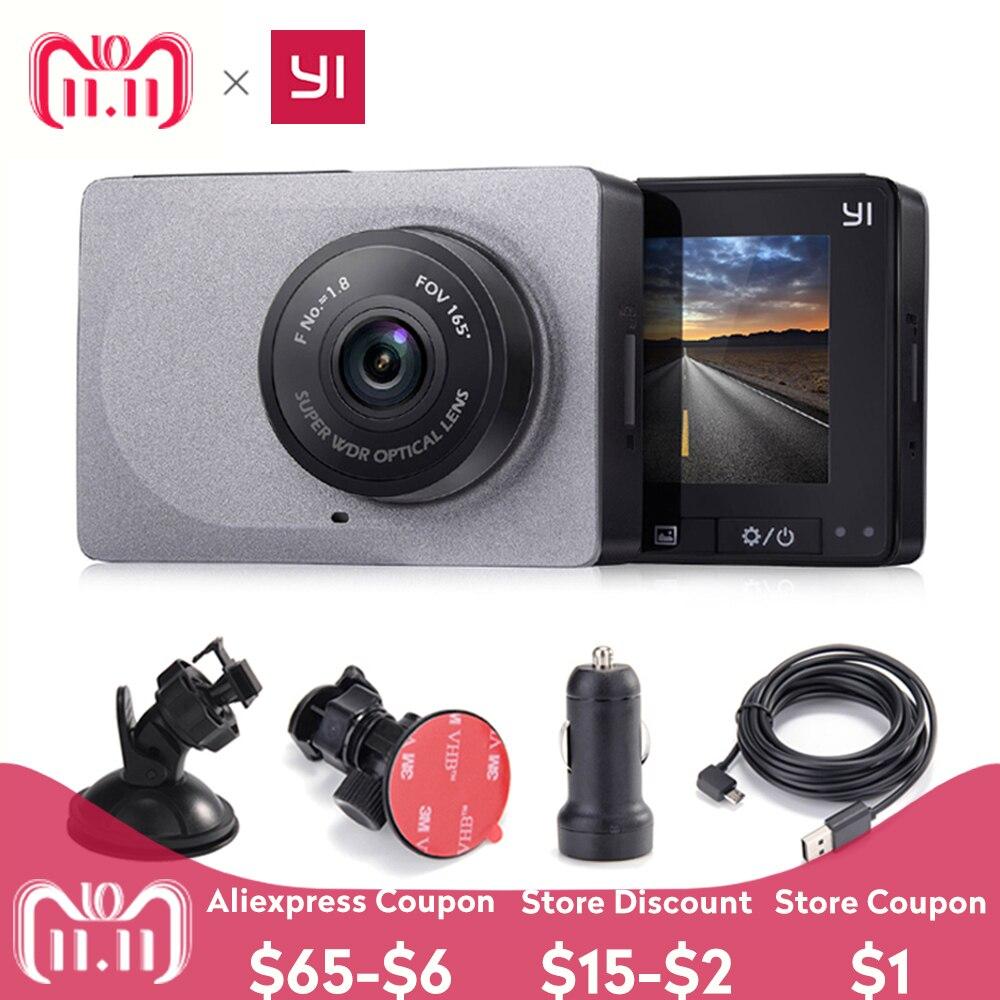 [Международное издание] Xiaomi YI Smart Автомобильный dvr 165 градусов P 1080 P 60fps автомобильный детектор 2,7 Dash камера ADAS безопасное напоминание Dashcam
