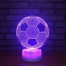 3D иллюсветодио дный Зия светодиодный ночник 7 цветов футбольная лампа настольная товары новинка товары Рождественские огни с сенсорной кнопкой детский ночник