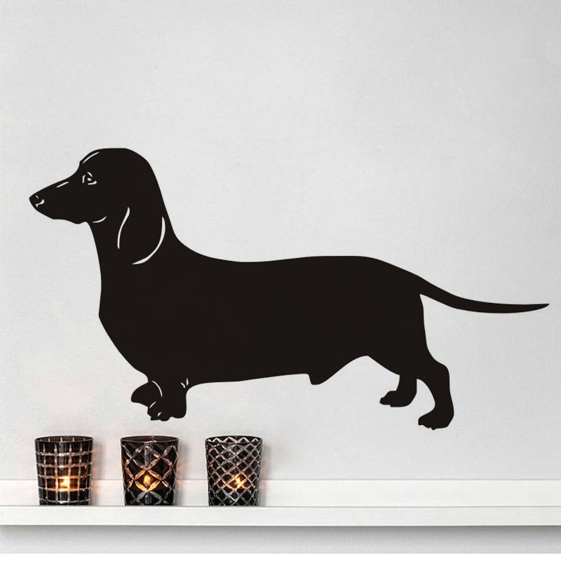 Dachshund Vinyl Wall Sticker Funny Dog Home Decor Removable Decal Art Mural Wall Sticker ...