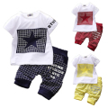 2016 Fashion Summer Unisex Baby Clothing Sets Children Cotton Boys Cute Suits Babies Tops+Pants 2pcs Set Infant Girls Clothes