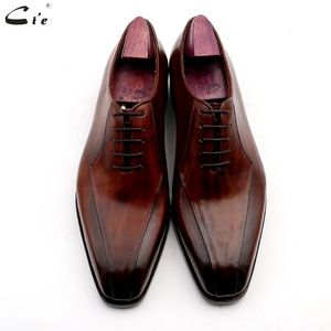 Image 5 - Cie zapatos de vestir de cuero para hombre, calzado de oficina marrón, suela de Piel De Becerro auténtica, trajes de cuero Formal, hechos a mano, n. ° 8