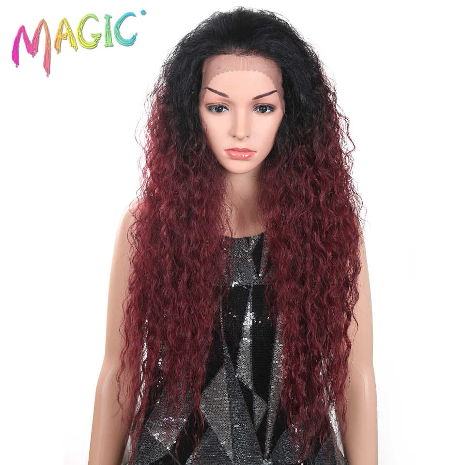 Amazing M 28Inch Deep Curly Synthetic Lace Front Wigs For Black Women Baby Schematic Wiring Diagrams Amerangerunnerswayorg