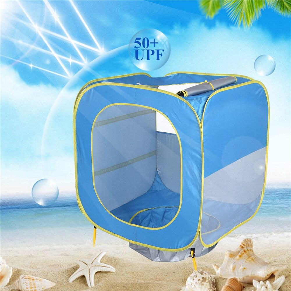 Tente pliable bébé tipi piscine de plage 50 + UPF jeux d'eau multifonction piscine à balles tente pour enfants jouets pour enfants tente améliorée