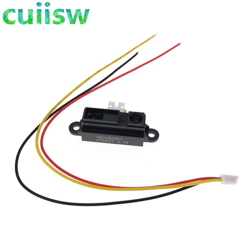 10PCS IR Sensor GP2Y0A21YK0F Measuring Detecting Distance Sensor 10 to 80cm with Cable for arduino