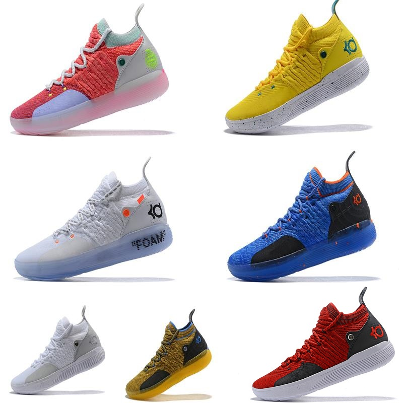 2019 New KD 11 EP White Orange Foam Pink Paranoid Oreo ICE Basketball Shoes Original Kevin Durant XI KD11 Mens Trainers Sneakers