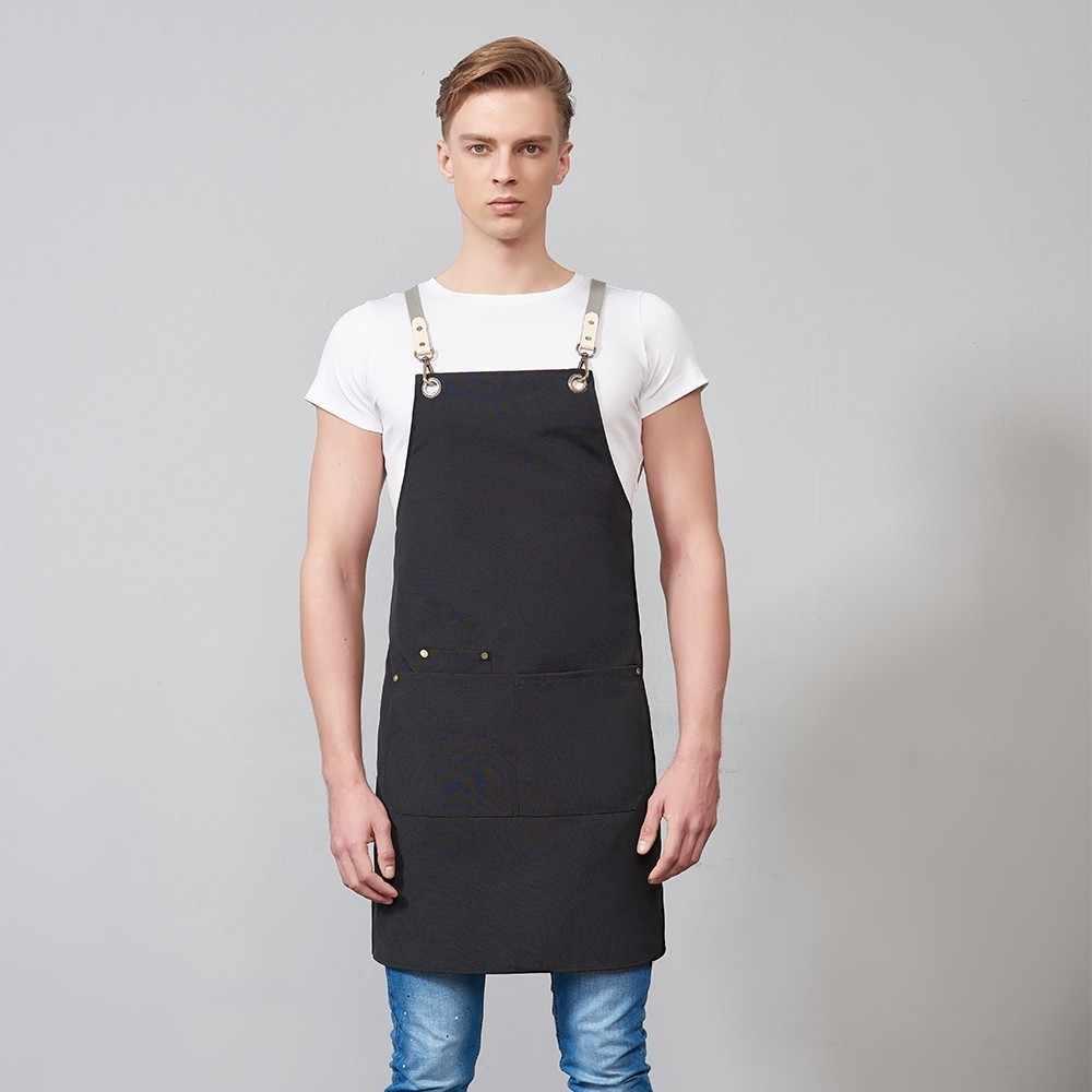 חדש בד כיס תליית צוואר יוניסקס מטבח בישול סינר ברביקיו קפה אפיית סינר קוסמטיקאית מספרות סלון עבודת סינר