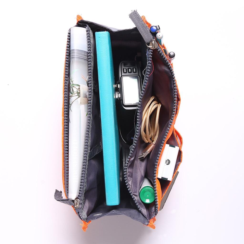 Image 3 - Portable Multifunction Dual Zipper Storage Bags Cosmetic Organizer Holder Organizer Storage Bag Organizer For Travel 2019-in Storage Bags from Home & Garden