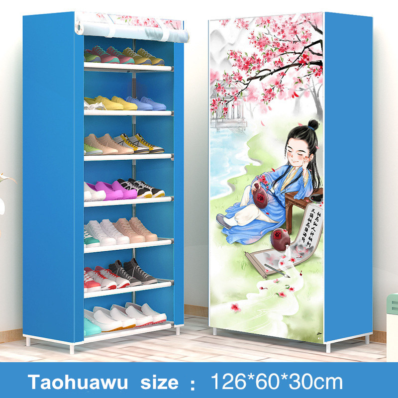 Modern minimalist shoe 8 layer non-woven dust creative combination cabinet storage rack organizer shoe storage home Furnitur 4