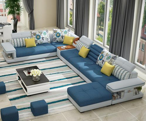 The Large Sized Apartment Sofa Simple Modern U Type Factory Direct S