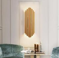 Aluminum Wall Lamp Northern Europe Post Modern Living Room Bedroom Gold Luxury Lighting Designer Hotel Guest Room Wall Lamp
