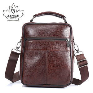 Image 3 - ZZNICK 2017  New Arrival Genuine Leather Bags For Men Shoulder Bag Mens Bag Messenger Bag Portfolio flap pocket 8206